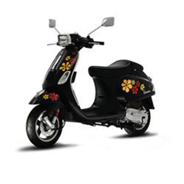 FLOWERS DECAL KIT FOR VESPA